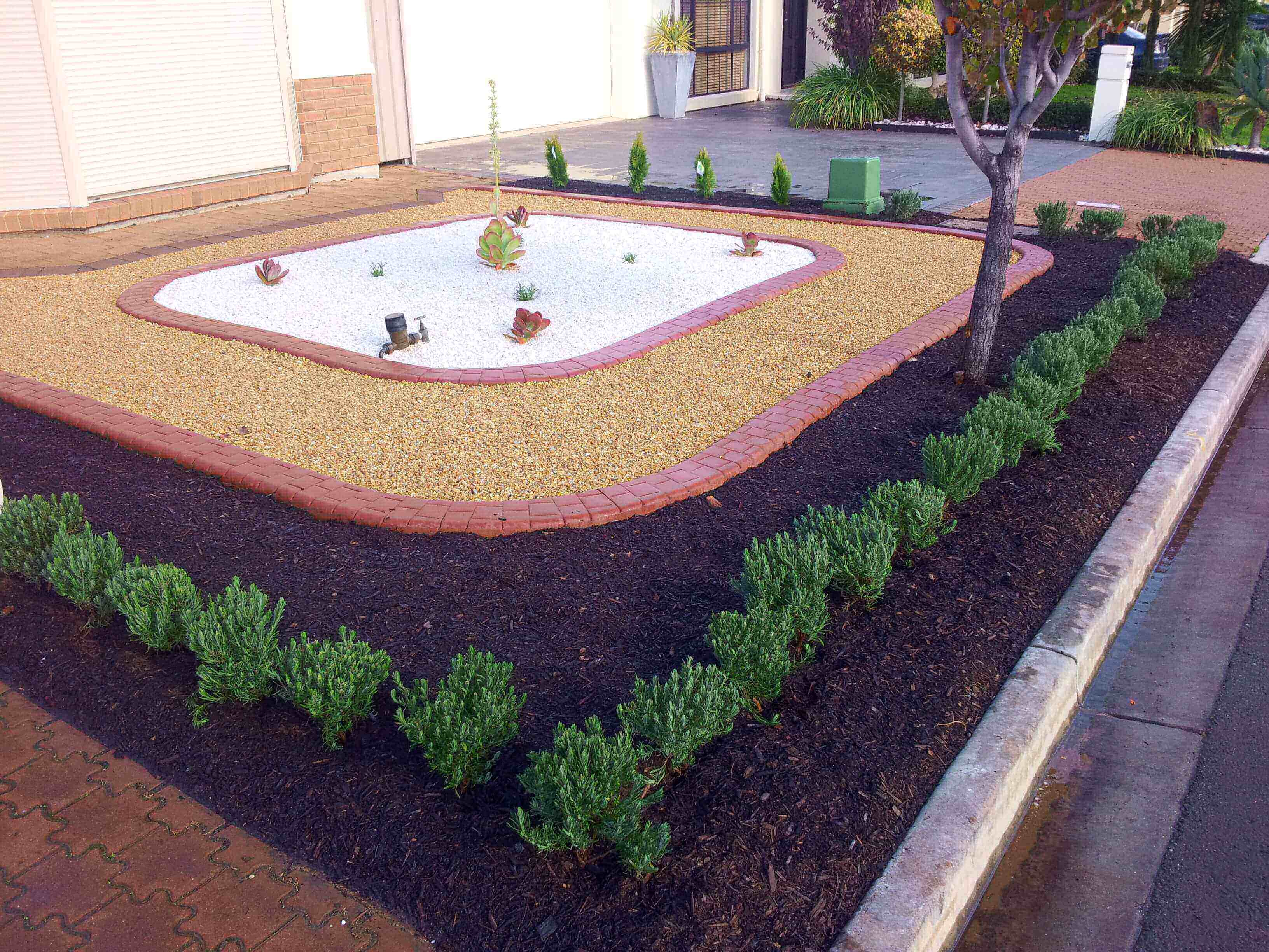 Creating a riot of colours with this very modern landscaping design