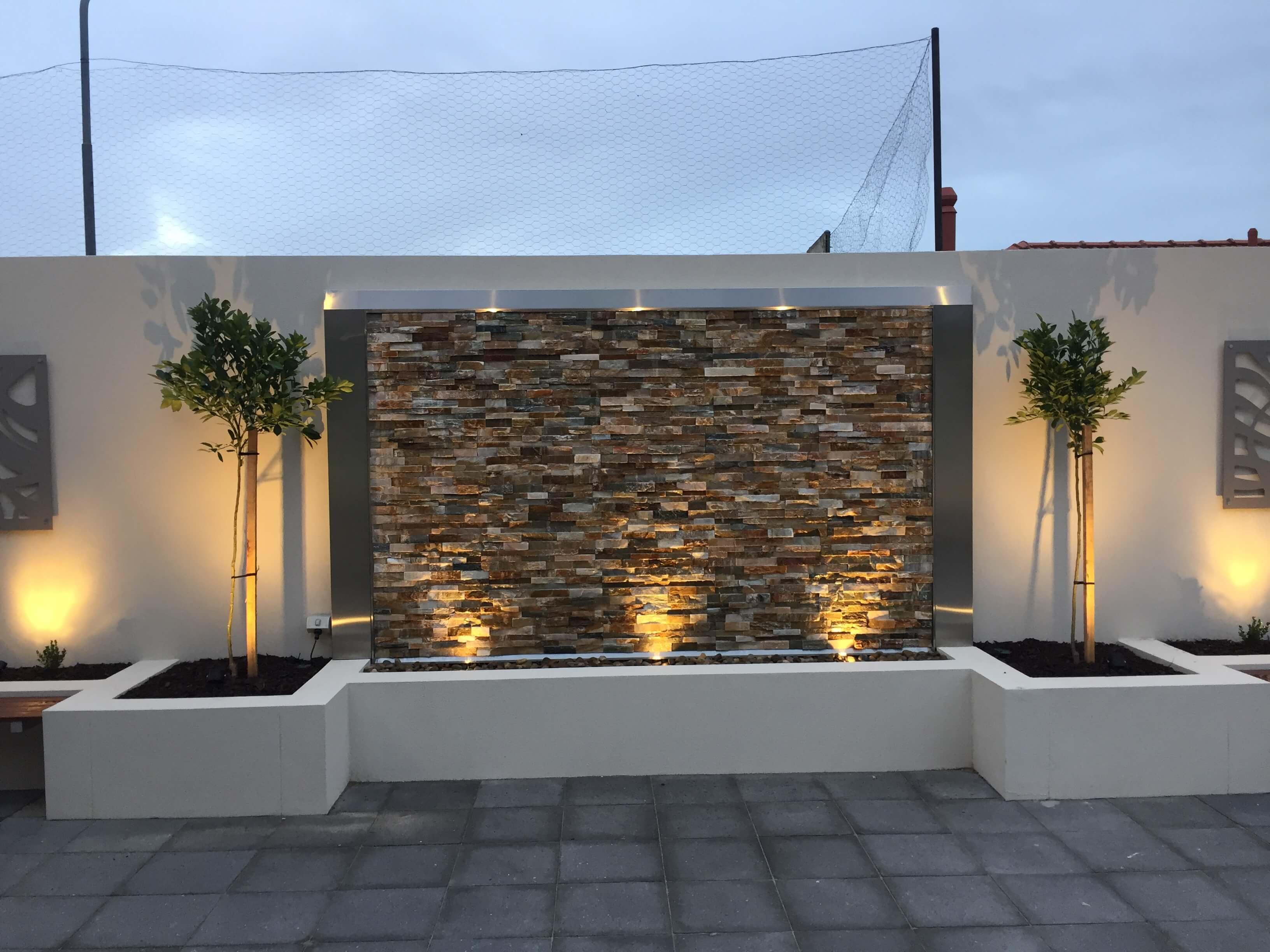 Blakeview - Water & light feature incorporated in our landscaping design