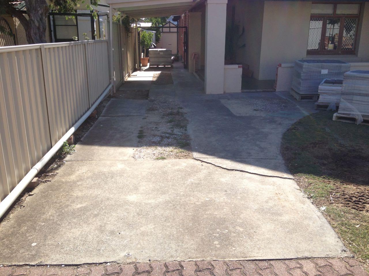 Glenelg - Laying Down Concrete Driveway At Entrance
