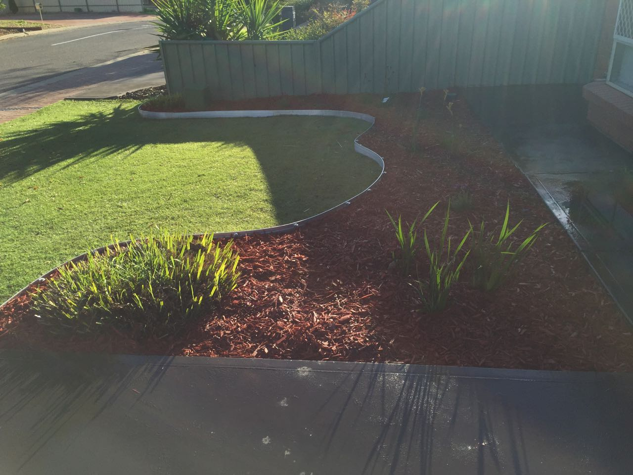 Smithfield Plains - Retaining Wall Added As Garden Separator