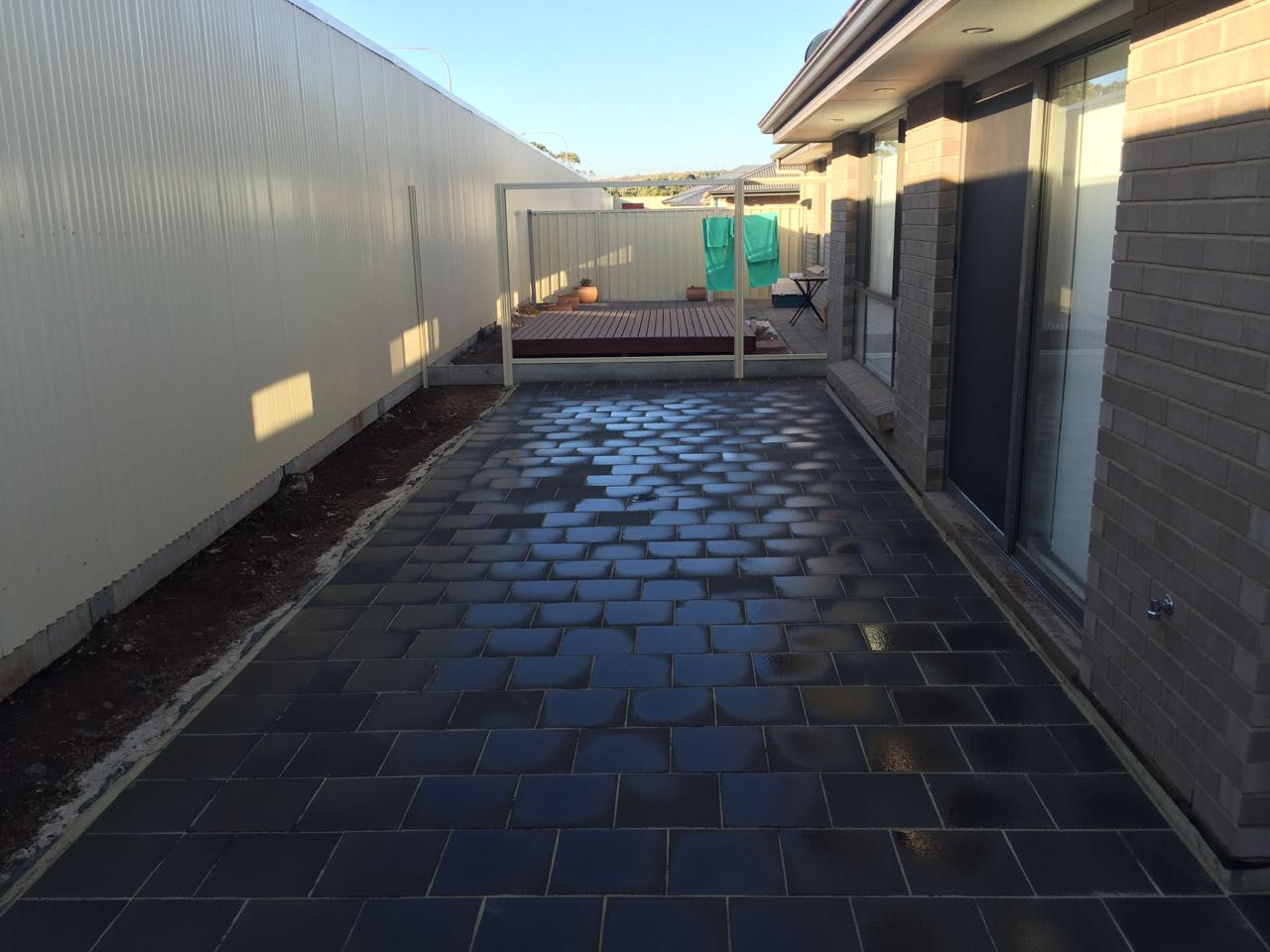 Salisbury Heights - Paved Patio in New Home-After