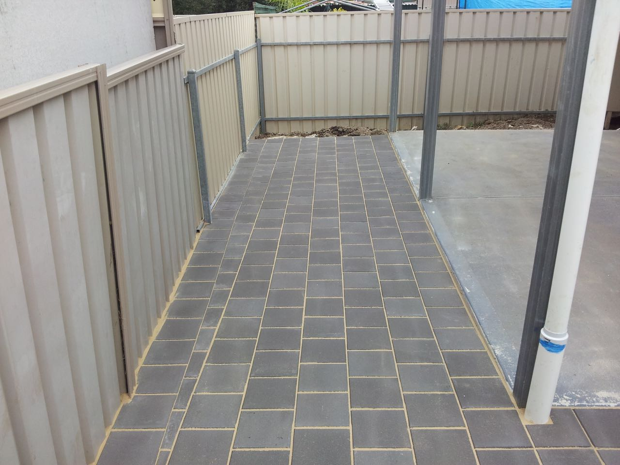 North Gate - Concrete Paved Backyard For Alfresco Set Up
