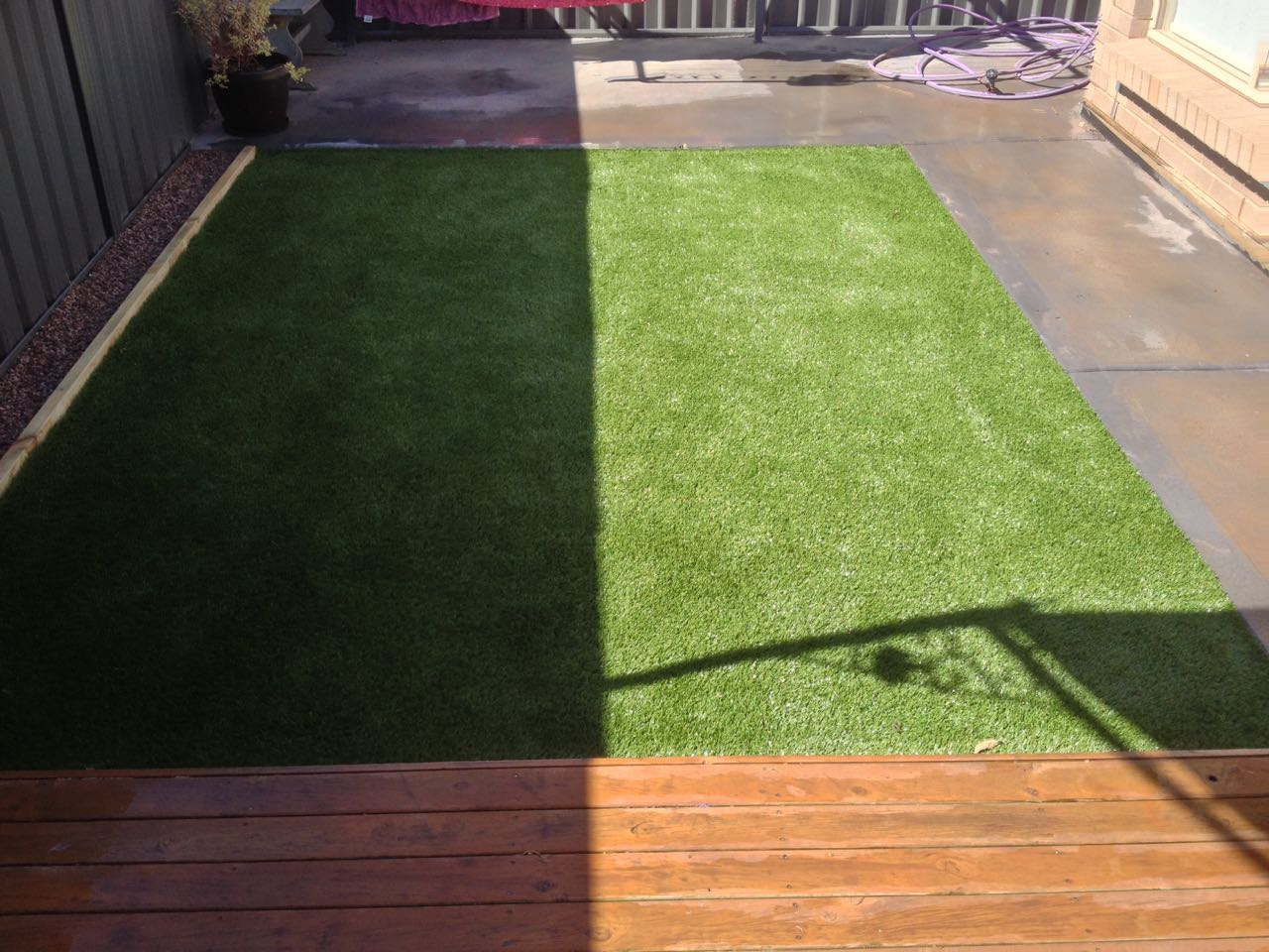 Andrews Farm - Low Maintenance Artificial Lawn Installed